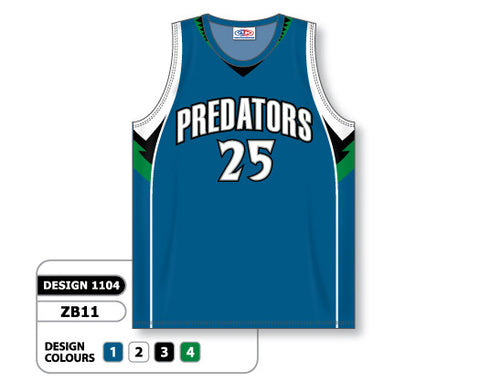 Custom Sublimated Basketball Jersey Design 1104