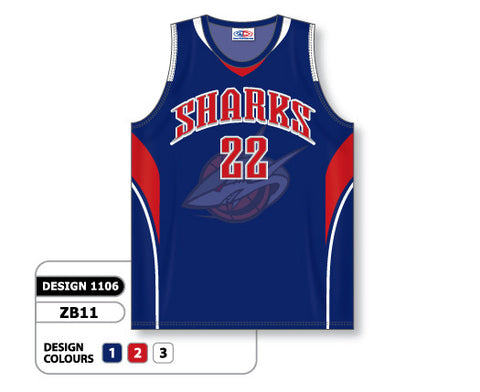 Custom Sublimated Basketball Jersey Design 1106