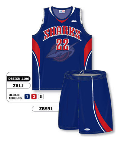 Custom Sublimated Matching Basketball Uniform Set Design 1106