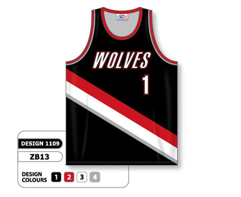 Custom Sublimated Basketball Jersey Design 1109