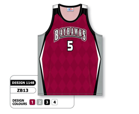 Custom Sublimated Basketball Jersey Design 1148