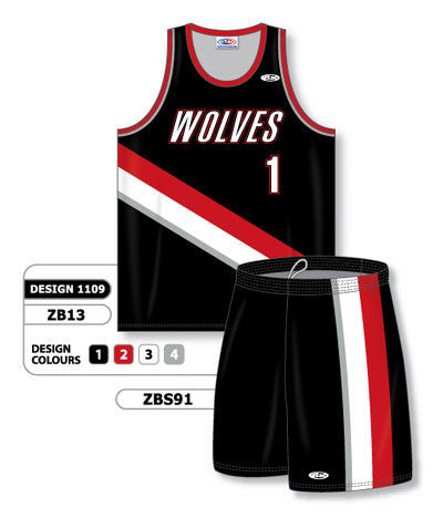 Custom Sublimated Matching Basketball Uniform Set Design 1109