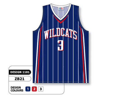 Custom Sublimated Basketball Jersey Design 1101