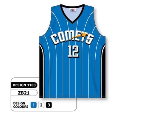 Custom Sublimated Basketball Jersey Design 1103