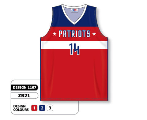 Custom Sublimated Basketball Jersey Design 1107