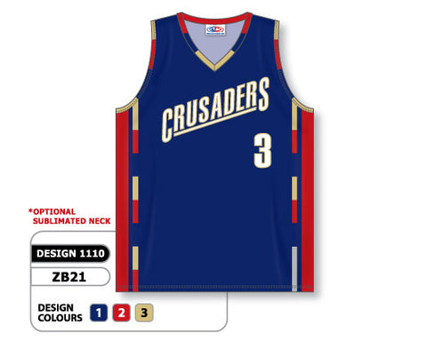 Custom Sublimated Basketball Jersey Design 1110