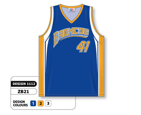 Custom Sublimated Basketball Jersey Design 1112