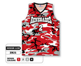 Custom Sublimated Basketball Jersey Design 1150