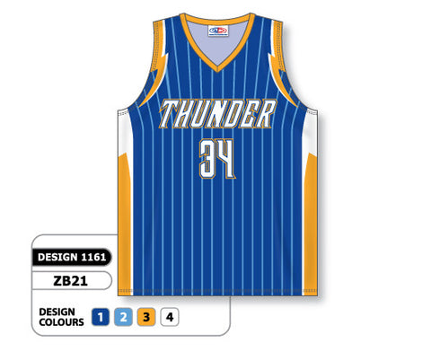 Custom Sublimated Basketball Jersey Design 1161