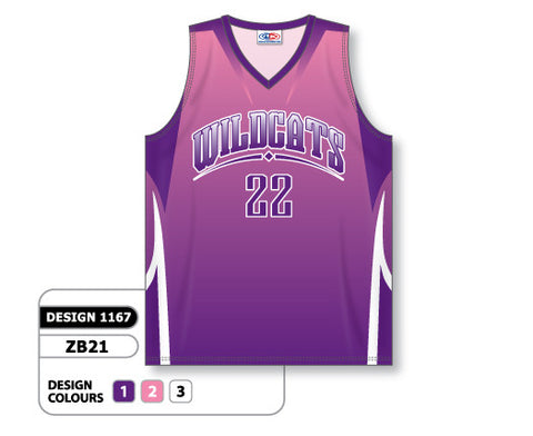 Custom Sublimated Basketball Jersey Design 1167