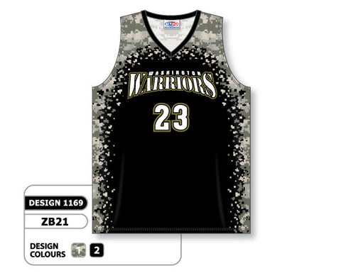 Custom Sublimated Basketball Jersey Design 1169