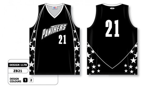 Custom Sublimated Basketball Jersey Design 1178