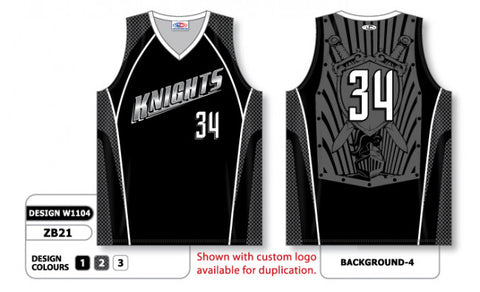 Custom Sublimated Basketball Jersey Design W1104