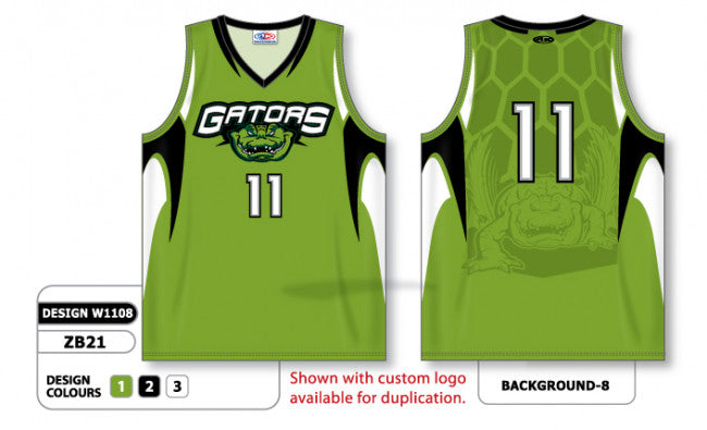 cb4b82b01d6 Custom Sublimated Basketball Jersey Design W1108