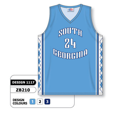 Custom Sublimated Basketball Jersey Design 1117
