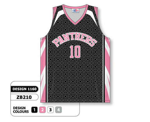 Custom Sublimated Basketball Jersey Design 1160