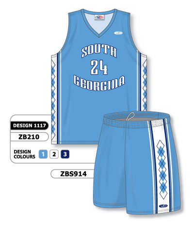 Custom Sublimated Matching Basketball Uniform Set Design 1117