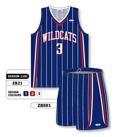 Custom Sublimated Matching Basketball Uniform Set Design 1101
