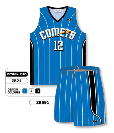 Custom Sublimated Matching Basketball Uniform Set Design 1103