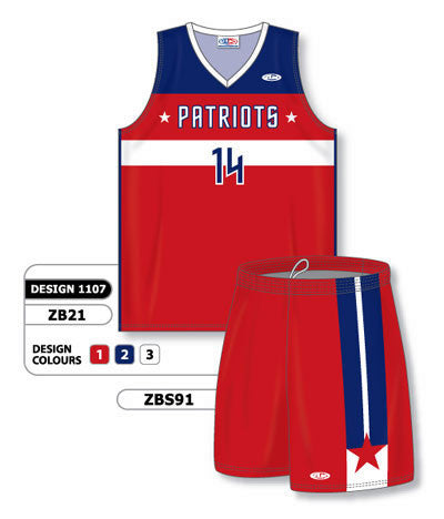 Custom Sublimated Matching Basketball Uniform Set Design 1107