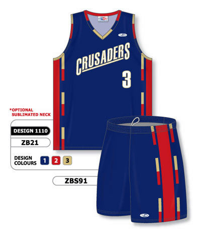Custom Sublimated Matching Basketball Uniform Set Design 1110