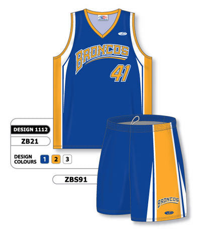 Custom Sublimated Matching Basketball Uniform Set Design 1112