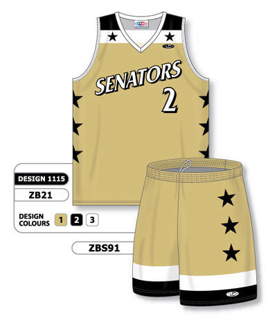 Custom Sublimated Matching Basketball Uniform Set Design 1115