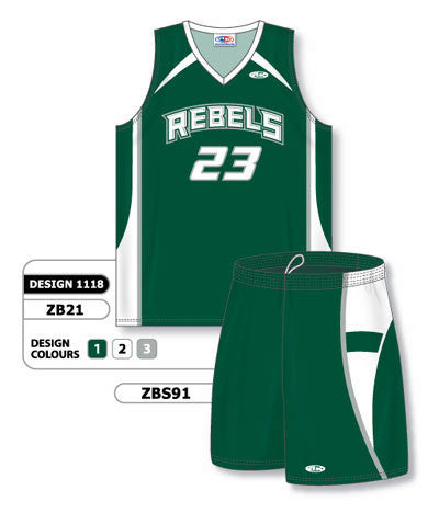 Custom Sublimated Matching Basketball Uniform Set Design 1118