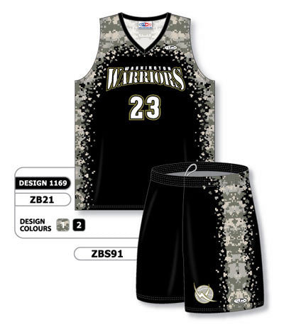 d32d9f51633 Custom Sublimated Matching Basketball Uniform Set Design 1169