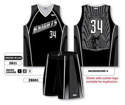 9b053a9fbff Custom Sublimated Matching Basketball Uniform Set Design W1104