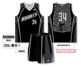 Custom Sublimated Matching Basketball Uniform Set Design W1104