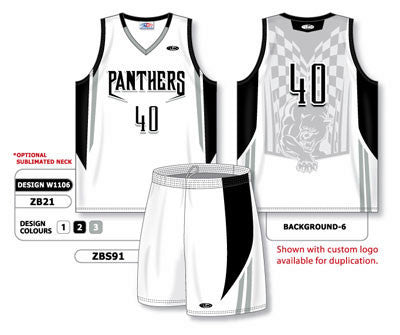 Custom Sublimated Matching Basketball Uniform Set Design W1106
