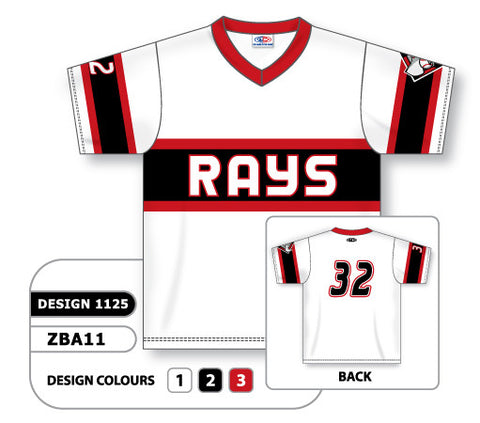 ZBA11-1125 Custom Sublimated V-Neck Baseball Jersey
