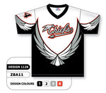 ZBA11-1126 Custom Sublimated V-Neck Baseball Jersey