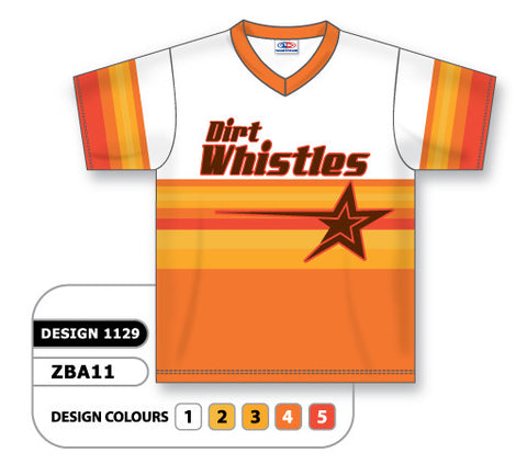 ZSB11-1129 Custom Sublimated V-Neck Softball Jersey