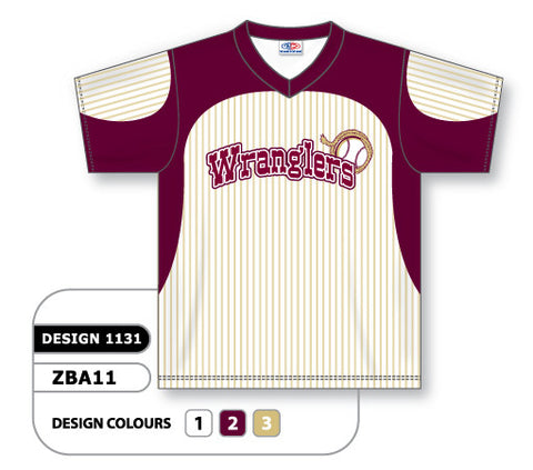 ZBA11-1131 Custom Sublimated V-Neck Baseball Jersey