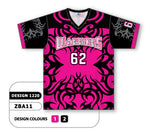 ZBA11-1220 Custom Sublimated V-Neck Baseball Jersey