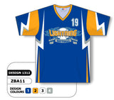 ZBA11-1312 Custom Sublimated V-Neck Baseball Jersey