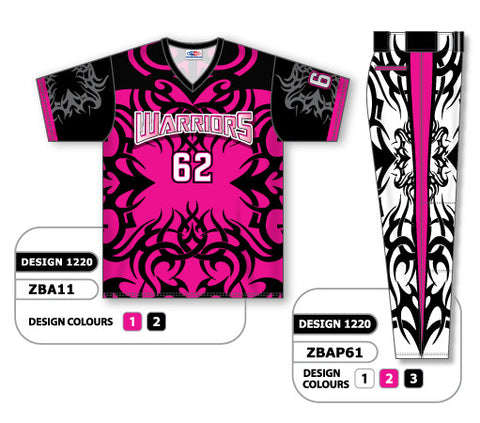 ZBA11S-1220 Custom Sublimated Matching Baseball Uniform Set