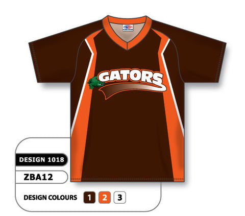 ZBA12-1018 Custom Sublimated V-Neck Baseball Jersey
