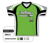 ZBA12-1124 Custom Sublimated V-Neck Baseball Jersey
