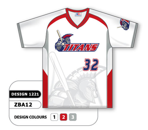 ZBA12-1221 Custom Sublimated V-Neck Baseball Jersey