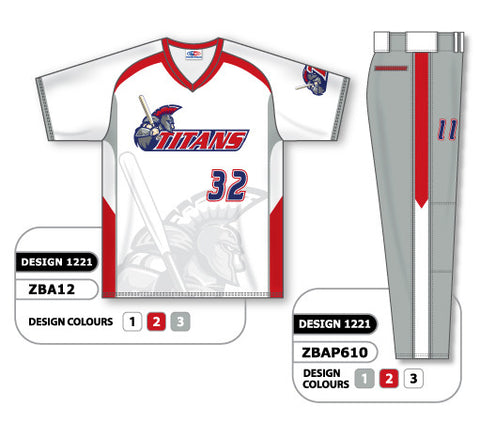 ZBA12S-1221 Custom Sublimated Matching Baseball Uniform Set
