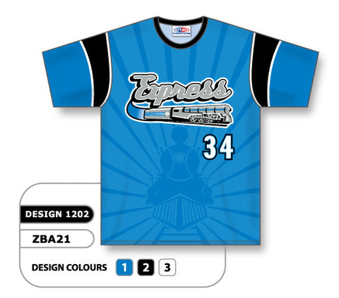 ZBA21-1202 Custom Sublimated Crew Neck Baseball Jersey