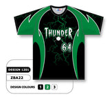 ZBA22-1201 Custom Sublimated Crew Neck Baseball Jersey