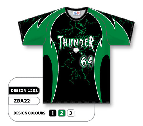 ZSB22-1201 Custom Sublimated Crew Neck Softball Jersey