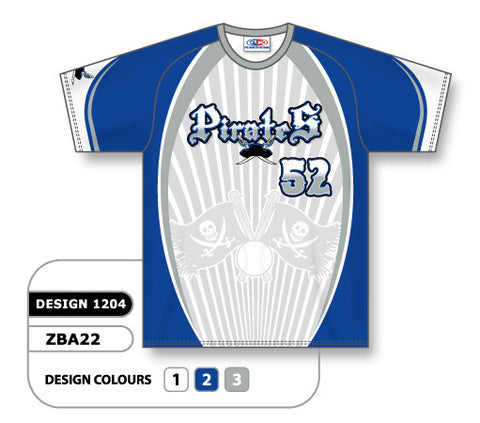 ZBA22-1204 Custom Sublimated Crew Neck Baseball Jersey