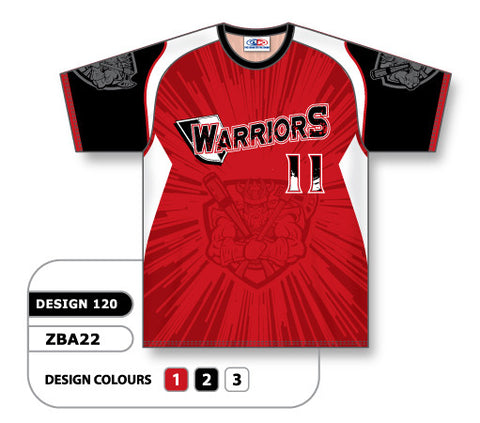 ZSB22-1205 Custom Sublimated Crew Neck Softball Jersey