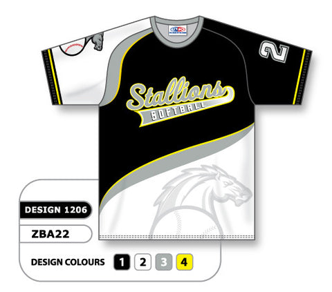 ZBA22-1206 Custom Sublimated Crew Neck Baseball Jersey