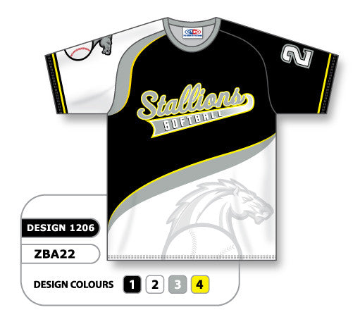 a92f48ae8 Custom Sublimated Crew Neck Softball Jersey Design 1206